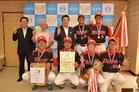 岐阜県羽島市長への優勝報告をしました。